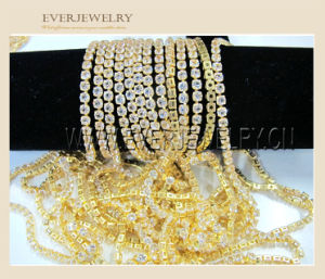 Hot Selling High Quality Zircon Cup Chain for Garment Trimming pictures & photos