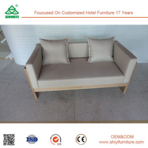 Solid Wood Frame + High Density Upholster Two Seater Sofa pictures & photos