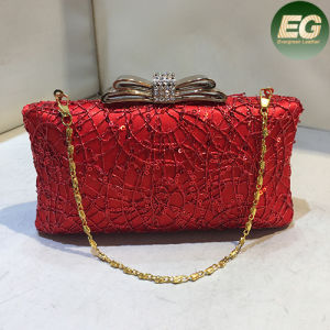 Popular Ladies Evening Clutch Bags Shinny Party Handbag Purses with Metal Eb775 pictures & photos