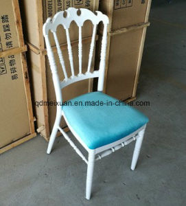 Soft Package Crown Bamboo Chair Aluminum Alloy White Hotel Dining Chair Outdoor Wedding Napoleon Chair (M-X3794) pictures & photos