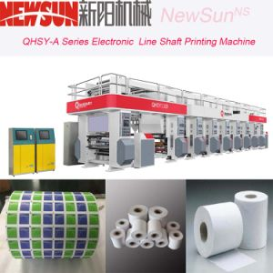 Qhsy-a Series 4 Colors 800mm Width Electronic Line Shaft Plastic Film Gravure Printing Machine pictures & photos