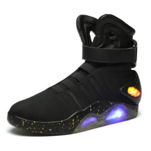 2016 Best Selling High Top Sport Shoe for Adult OEM Rechargeable Battery Operated LED Shoes Popular with Customers