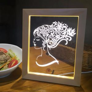 LED Picture Frame with Wood pictures & photos