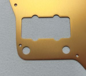 Gold Color Jazz Master Aluminum Guitar Pickguard pictures & photos