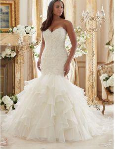 2017 Ruffle Organza Bridal Wedding Dresses Ctd201 pictures & photos