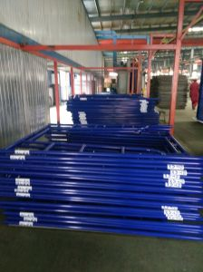 SGS Tested Powder Coated Walk Through/H Frame Scaffolding pictures & photos