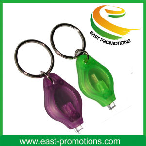 Promotional Simple Plastic Touch LED Key Chain pictures & photos