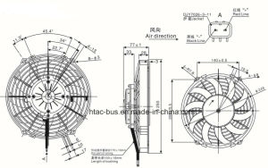 Auto Air Conditioner Cooling Spal Condenser Fan China pictures & photos