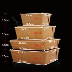 Disposable Kraft Paper Box for Food Package pictures & photos