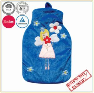 1.5L Hot Water Bottle with Applique Fleece Cover pictures & photos