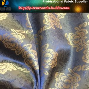 Beautiful Peony Jacquard, Popular Polyester Jacquard for Upscale Lining (5) pictures & photos