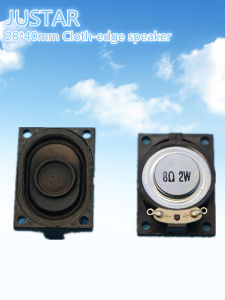 40*28mm 4- 8ohm 2W Cloth-Edge Speaker pictures & photos