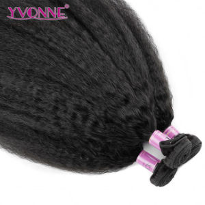 Kinky Straight Brazilian Virgin Hair, 100% Human Hair Weaving Free Shipping pictures & photos