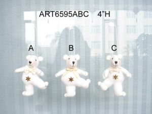 White Polar Bear Christmas Tree Decoration Ornaments-3asst. pictures & photos