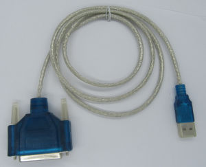VGA Cable, Moulded Type, USB a Male to dB25p Female Connector Two Sides pictures & photos