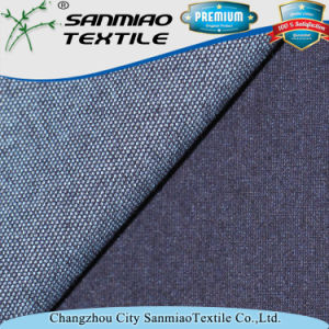 Small MOQ Hot Selling Cheap Polyester Knitted Denim Fabric for Jeans pictures & photos