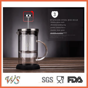 Wschxx027 Hot Sell French Press Coffee Maker with Silicone Base Coffee Press pictures & photos