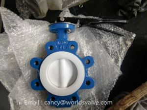 Full PTFE Liner Lug Type Butterfly Valve pictures & photos