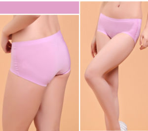 Anti-Bacterial Nylon Seamless Underwear with Silver Fiber for Women pictures & photos