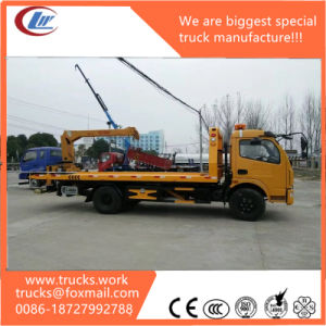 4X2 LHD Dongfeng 3tons 5400mm Flat Bed Tow Truck pictures & photos