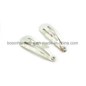 3cm Silver Snap Clip Hair Barrette pictures & photos