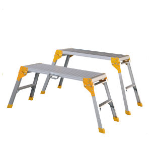 Aluminum Working Platform Ladder with GS Approval pictures & photos