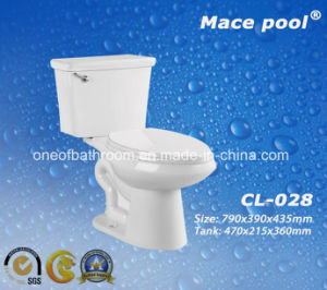 Good Quality Sanitary Ware Two-Piece Ceramic Toilets for Bathroom (CL-028) pictures & photos
