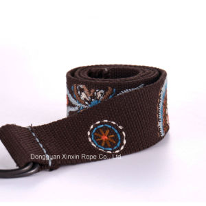 Retro Adjustable Double-Ring Buckle Weaving Jacquard Belt for Gift pictures & photos