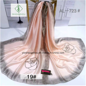 90*180cm Hot Sale Printed Shawl Fashion Lady Silk Scarf pictures & photos