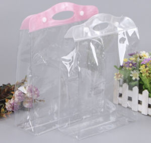 Green Transparent PVC Buckle Plastic Bags Gift Bag Handbag pictures & photos