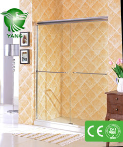 Stainless Steel Shower Door, Shower Enclosure with Tempered Glass, Glass Bathroom Shower Room