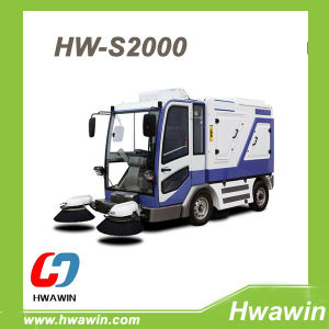 Luxury Automatic Heavy Duty Electric Road Street Cleaning Sweeper Truck pictures & photos