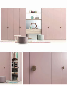Home Furniture Sweet Pink Wardrobe pictures & photos