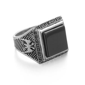 VAGULA Men′s Punk Ring Vintage Silver Biker Ring pictures & photos