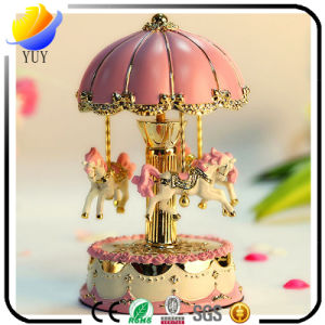 Merry-Go-Round Dream Resin Carousel Music Box pictures & photos