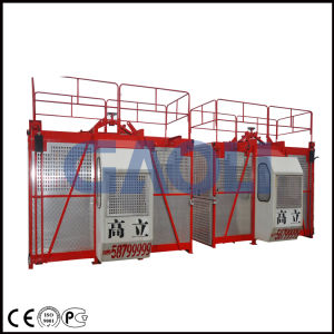 Double Cages Lifting Mechanism of Construction Building Lift pictures & photos