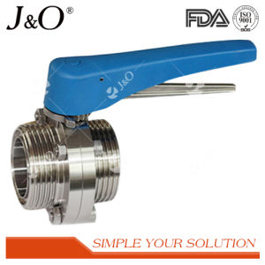 Sanitary Male Thread Butterfly Valve with Ss Handle pictures & photos