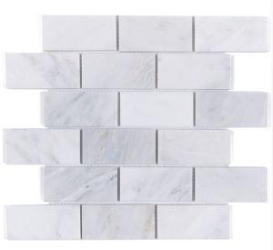 Building Material Carrara White Marble Mosaic Tile for Flooring Tile (FYST201)