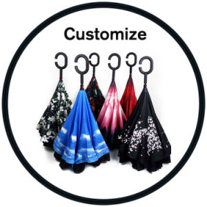 Bluetooth Upside Down Double Layer Inverted Umbrella pictures & photos