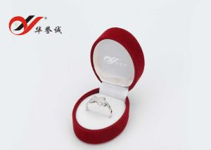 Oval Red Velvet Jewelry Box Set pictures & photos