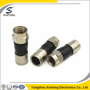 RG6 Connector F Compression Waterproof Brass Connector 32mm Length pictures & photos