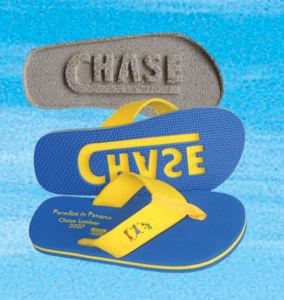 Wide Strap EVA Flip Flop with Debossed Logo pictures & photos