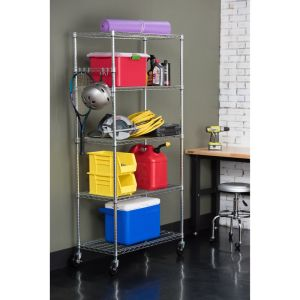 Multi-Functional DIY Metal Storage Wire Racking / Garage Wire Shelving pictures & photos