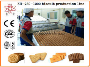 Kh-600 Automatic Jam Filled Biscuit Making Machine pictures & photos