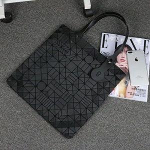 Matt Black PU Geometric Patterns Shoulder Bag (A0119-1) pictures & photos