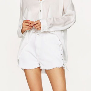 Ladies Fashion Side Bandage Preppy Style Short Pants pictures & photos