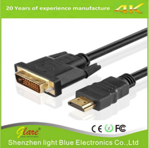 Black Color HDMI to DVI Projector Cable pictures & photos