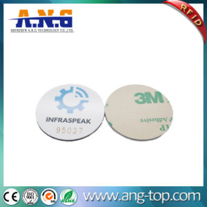 13.56MHz Programmable Plastic Coin Token RFID Tags with 3m Adhesives pictures & photos