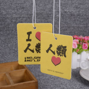 Customization Slogan Air Fresheners/Orange Car Perfume Hang Tag pictures & photos