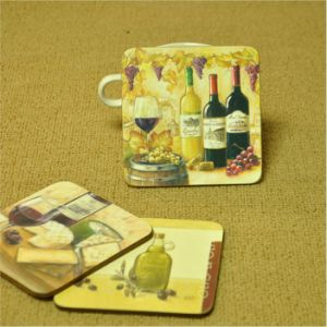 Colors Printing Cap Coaster 10*10cm pictures & photos
